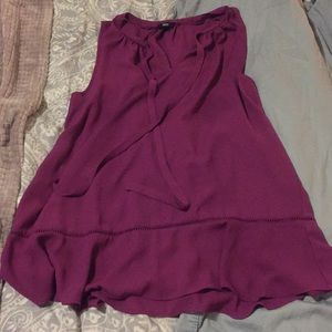 Vibrant purple/plum sleeves top